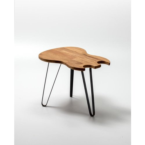 Ruwdesign Ruwdesign Solid Oak Guitar Side Table Double Cut