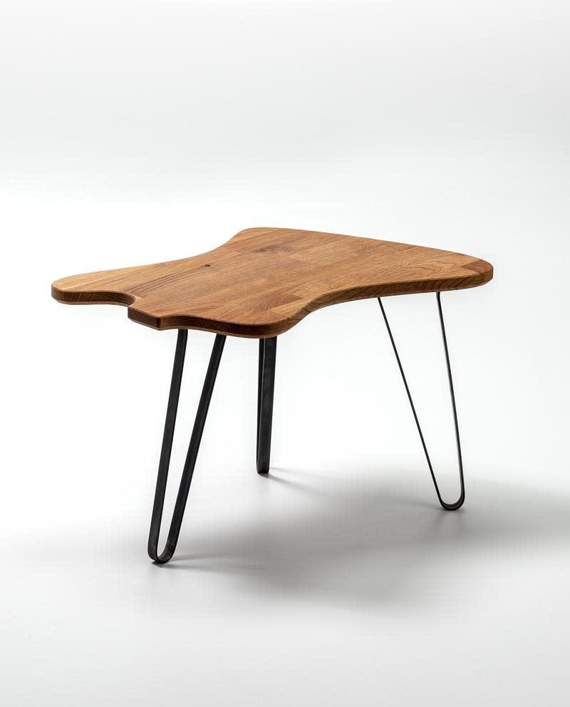 Ruwdesign Solid Oak Guitar Side Table Firebird