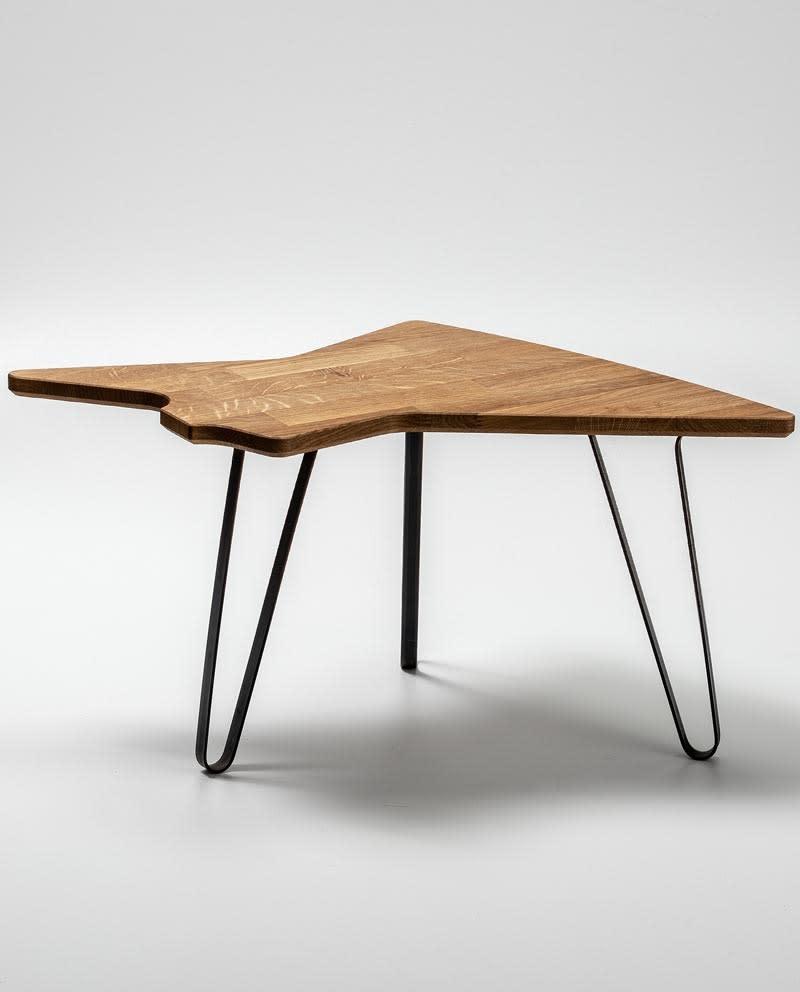 Ruwdesign Solid Oak Guitar Side Table Explorer