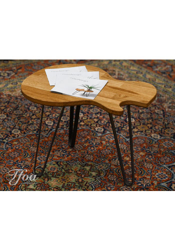 Ruwdesign Ruwdesign Solid Oak Guitar Side Table Single Cut