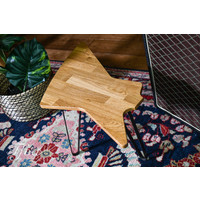 Ruwdesign Solid Oak Guitar Side Table Explorer