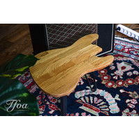 Ruwdesign Solid Oak Guitar Side Table J-Bass