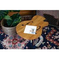 Ruwdesign Solid Oak Guitar Side Table Hollowbody