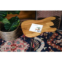 Ruwdesign Solid Oak Guitar Side Table P-Bass