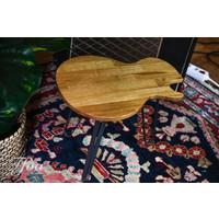 Ruwdesign Solid Oak Guitar Side Table Single Cut