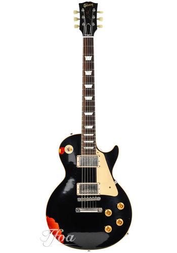 Gibson Gibson Custom Shop Les Paul Standard Paint-over LTD Black over Sunburst 2017 Aged