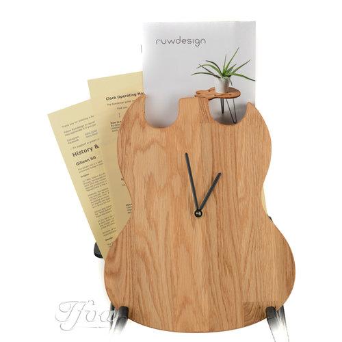 Ruwdesign Ruwdesign Guitar Clock Double Cut