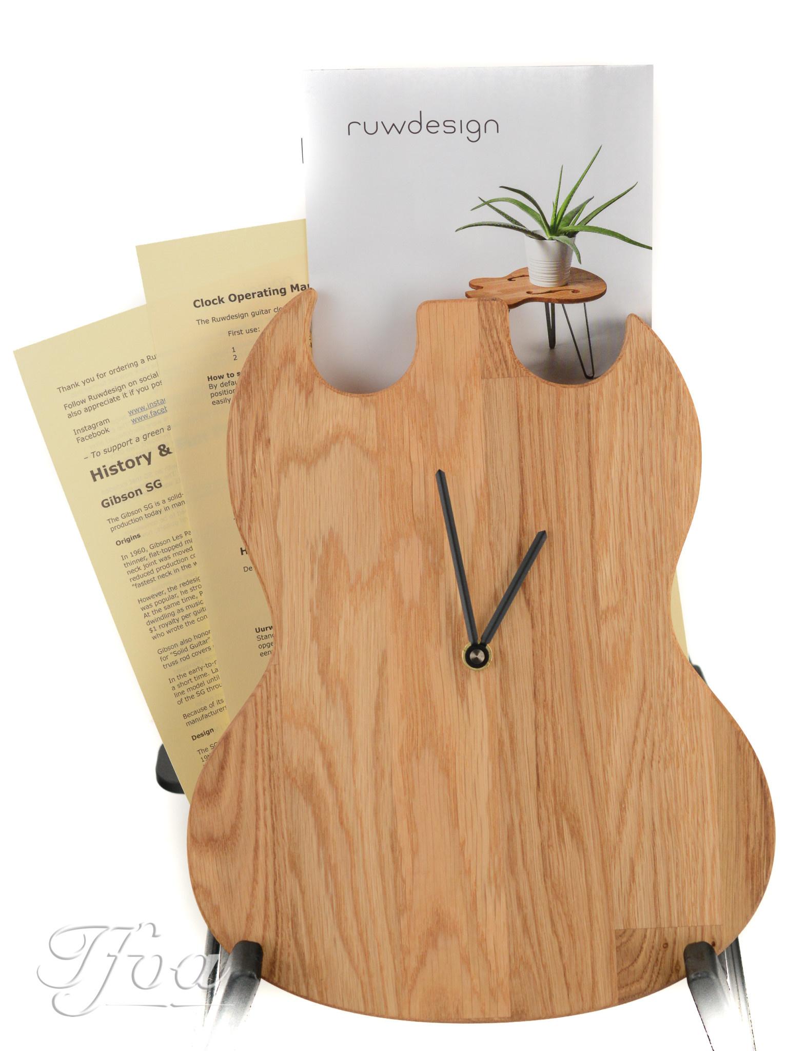 Ruwdesign Guitar Clock Double Cut
