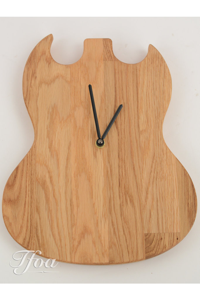 Ruwdesign Guitar Clock Double Cut