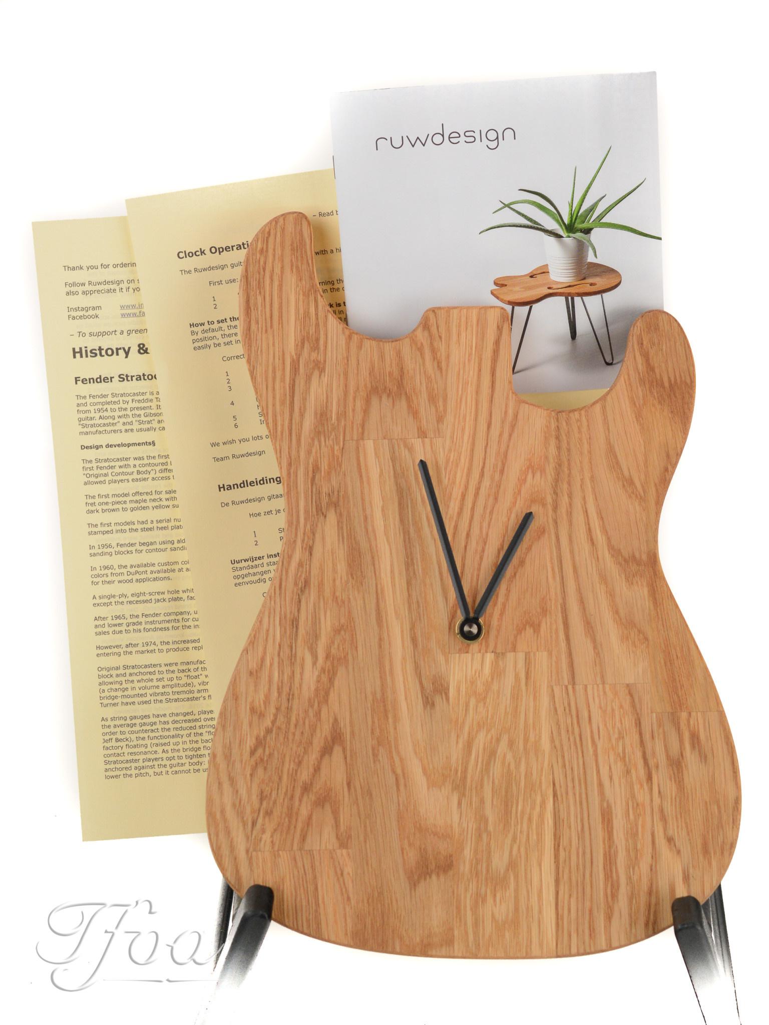 Ruwdesign Guitar Clock S-Model