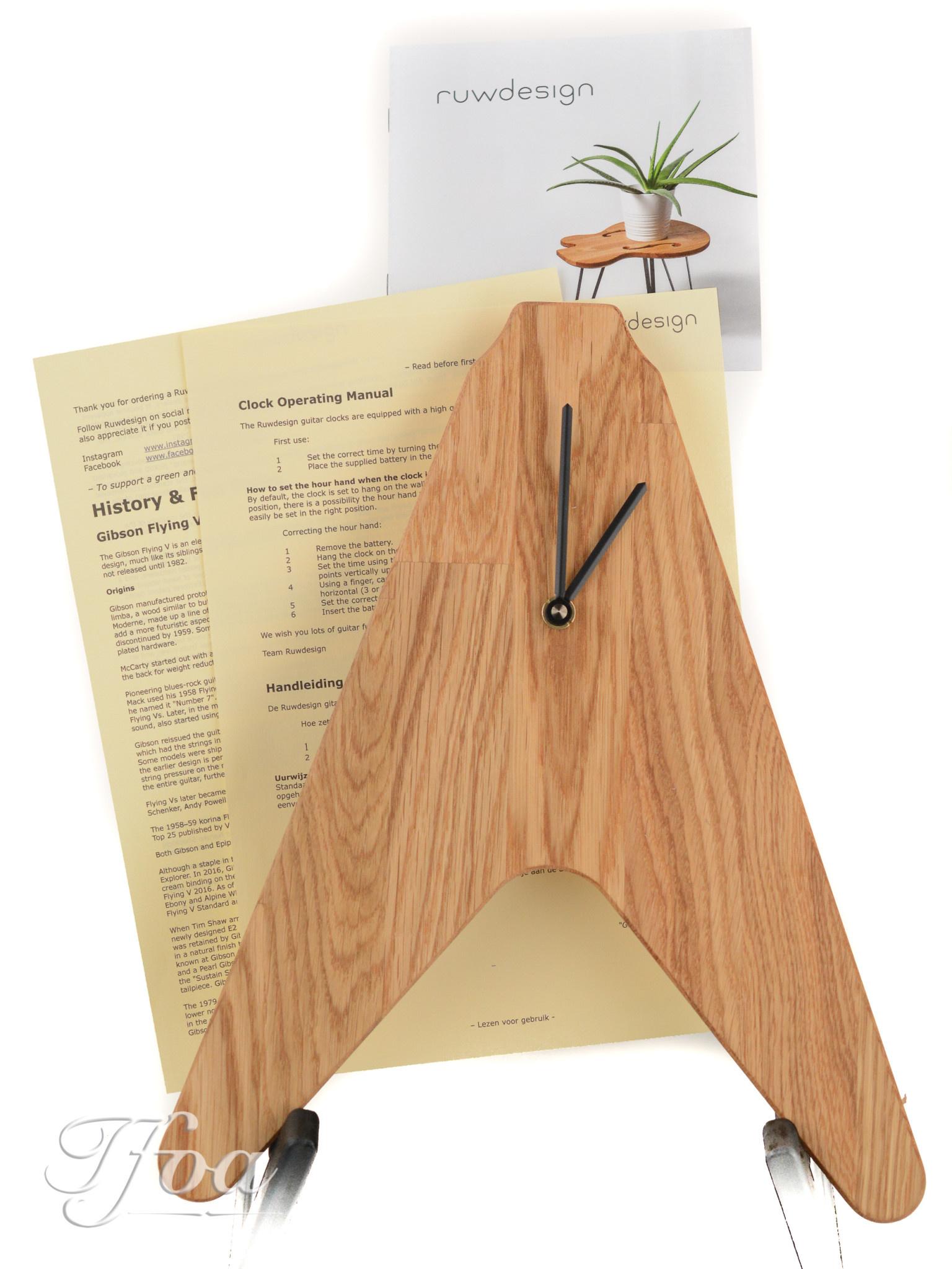 Ruwdesign Guitar Clock The V