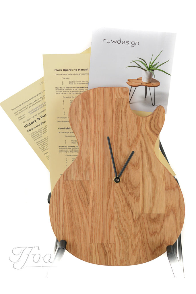 Ruwdesign Guitar Clock Single Cut