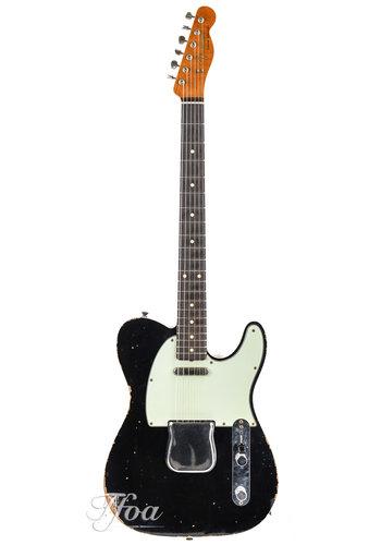 Fender Custom Fender Telecaster Custom 62 Black Relic Roasted Maple Neck 2017 Near Mint
