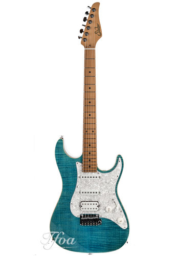 Suhr Suhr Standard Plus Bahama Blue HSS Roasted Maple