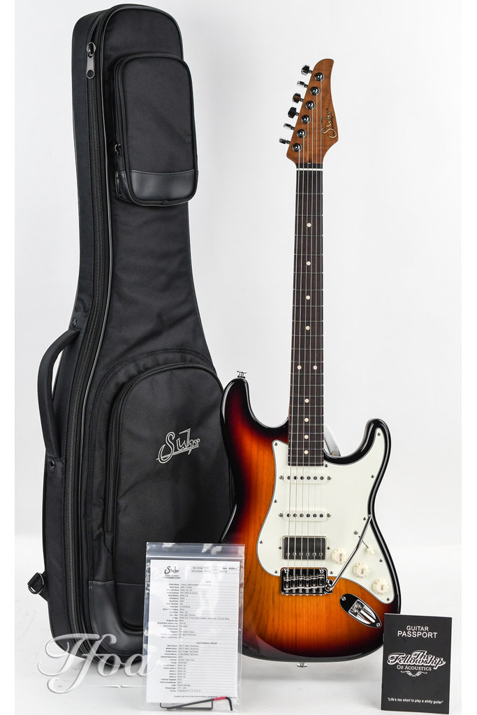 Suhr Classic S 3 Tone Sunburst Flamed Roasted Neck HSS LTD