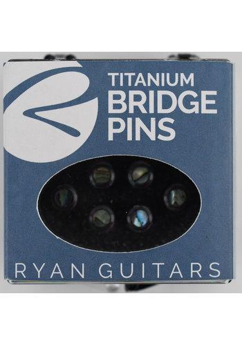 Kevin Ryan Kevin Ryan Titanium Bridge Pins Paua Abalone