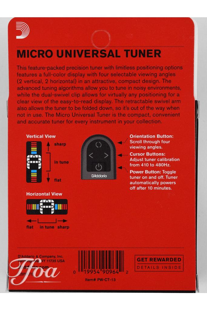 D'Addario PW-CT-13 Micro Universal Tuner