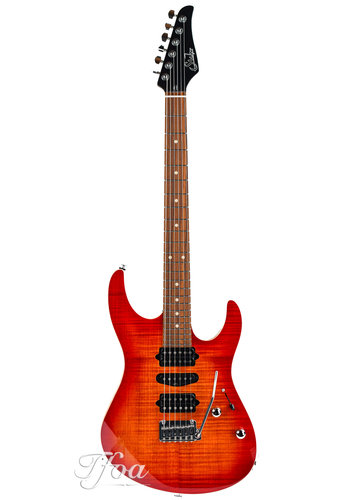 Suhr Suhr Modern Plus Fireburst HSH Roasted Maple Neck