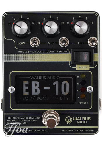 Walrus Audio Walrus Audio EB10 Black Preamp-EQ-Boost