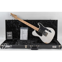 Suhr Custom T Antique Roasted Maple - Trans White - Heavy Aged