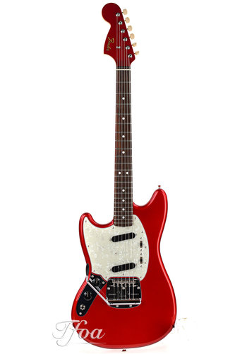 Fender Fender Limited Edition Traditional 60s Mustang RW Candy Apple Red Lefty