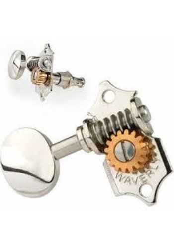 Waverly Waverly Guitar Tuners 1129 with Vintage Oval Knobs, for Solid Pegheads Nickel