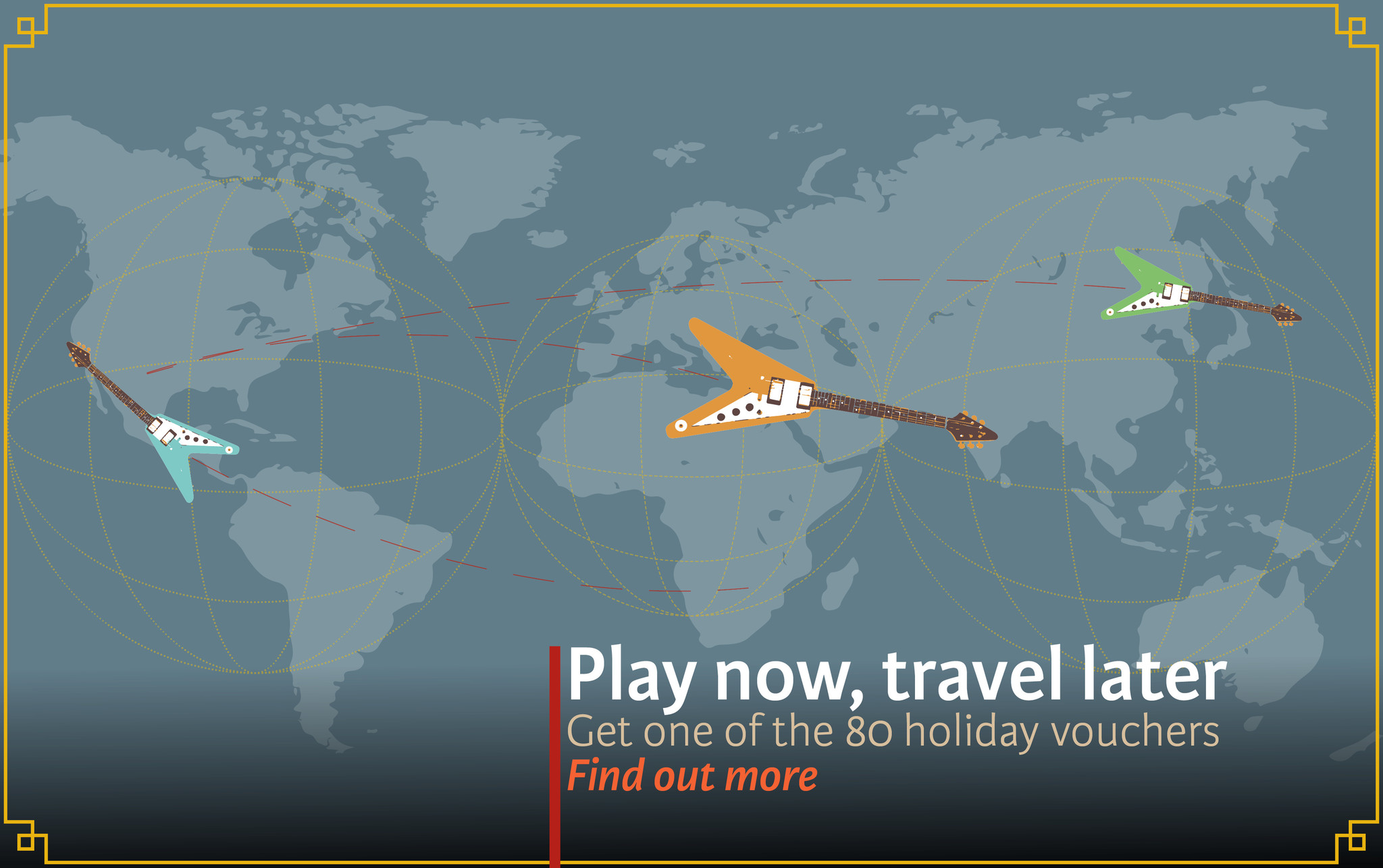 Play Now, Travel Later! Gratis Vakantie Vouchers bij TFOA!