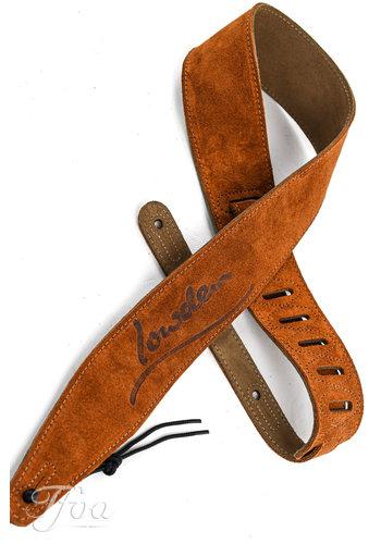 Lowden Lowden Tan Leather Strap Distressed Logo