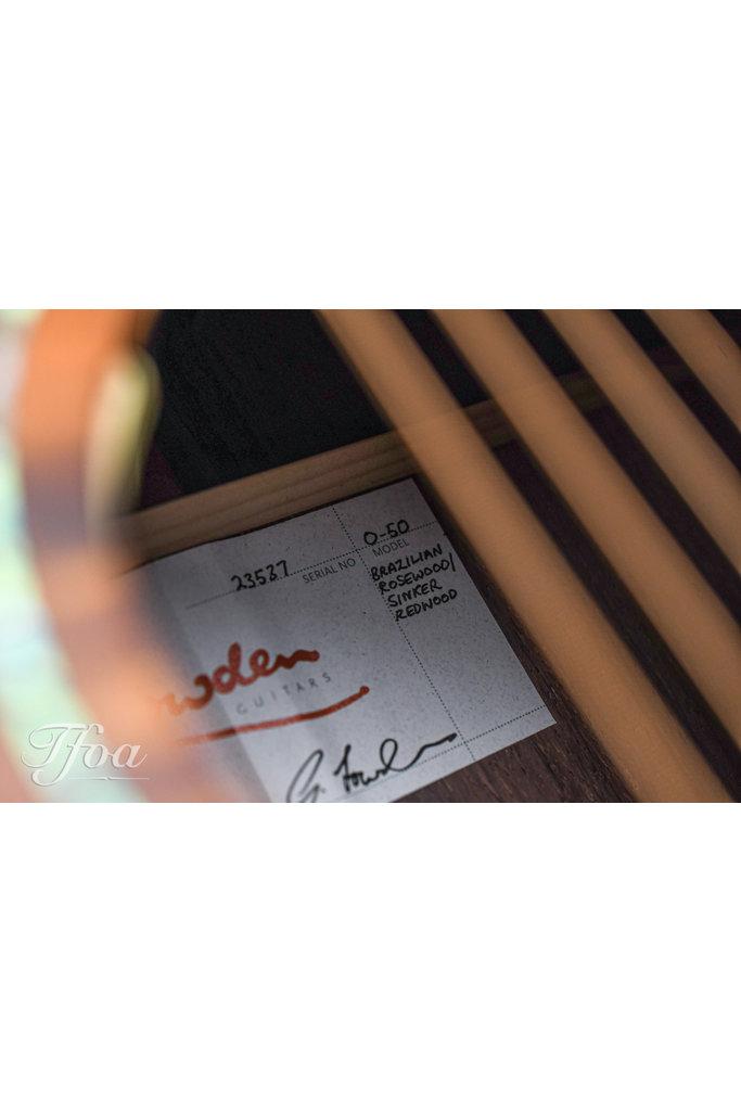 Lowden O50 Brazilian Rosewood Sinker Redwood 2019 Mint