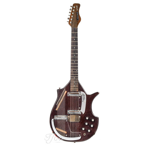 Danelectro Coral Sitar Vincent Bell Signature Bombay Red 1960s