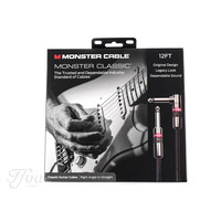 Monster Cable Classic 12ft Angled  Straight 3.7m Instrument Cable