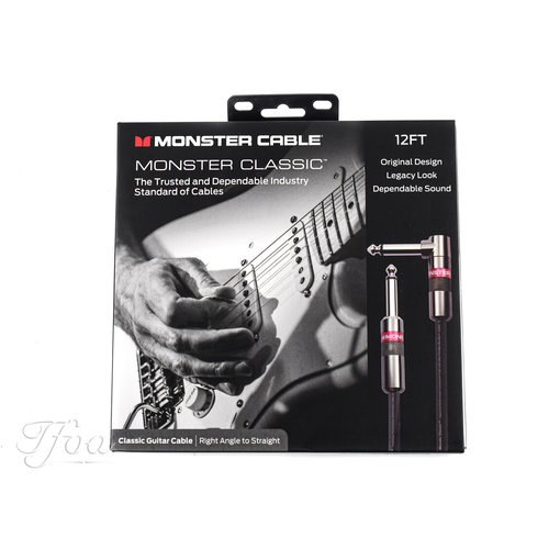 Monster Cable Monster Cable Classic 12ft Angled  Straight 3.7m Instrument Cable