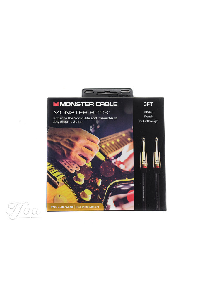 Monster Cable Rock 3ft Straight Straight 0.9m Instrument Cable