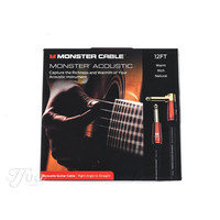 Monster Acoustic Instrument Cable 3.7m 12ft Angled - Straight