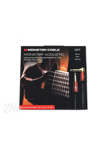 Monster Cable Monster Cable Acoustic 12ft Angled Straight 3.7m Instrument Cable