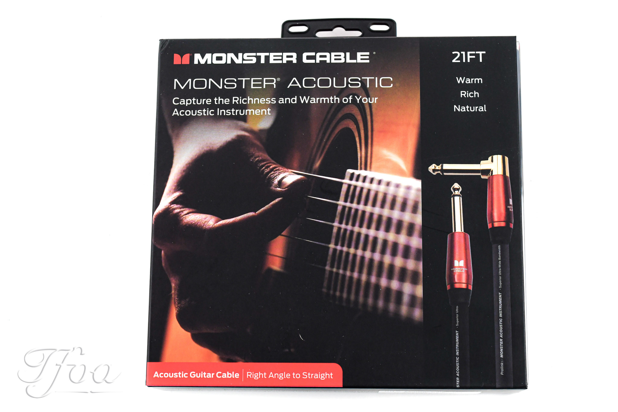 Monster Cable Acoustic 21ft Angled Straight 6.4m Instrument Cable
