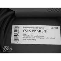 Cordial CSI6PP Silent Jack Cable Straight 6m
