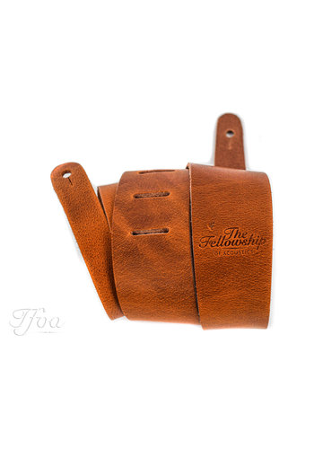 TFOA Leather Guitar Strap Light Brown