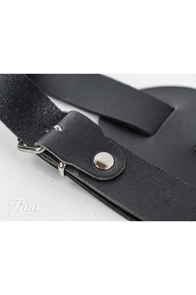 TFOA Leather Banjo Strap Black