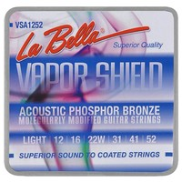 La Bella Extended life VSA1252 Vapor Shield Phosphor Bronze 012-052 Strings
