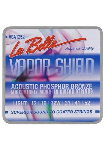 La Bella La Bella Extended life VSA1252 Vapor Shield Phosphor Bronze 012-052 Strings