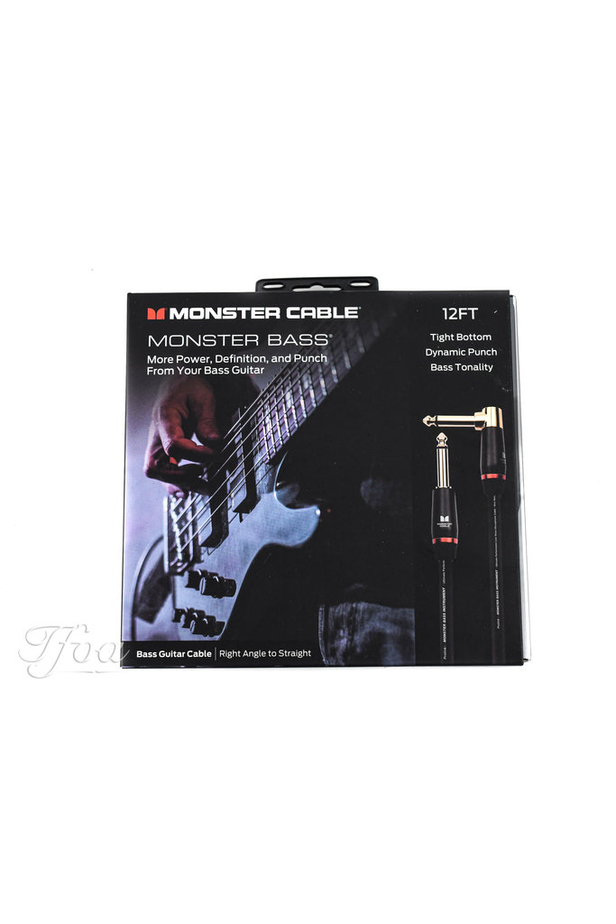 Monster Cable Bass 12 Angled-Straight 3.7m Instrument Cable
