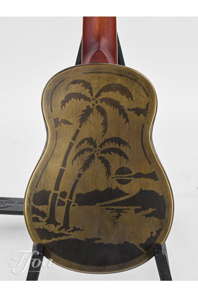 National Style O Ukulele Antique Brass