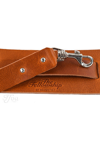 TFOA Leather Banjo Strap Light Brown