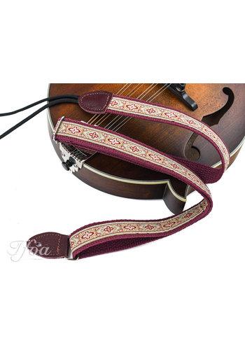 Souldier Souldier Mandolin Strap Anouk Burgundy Taupe