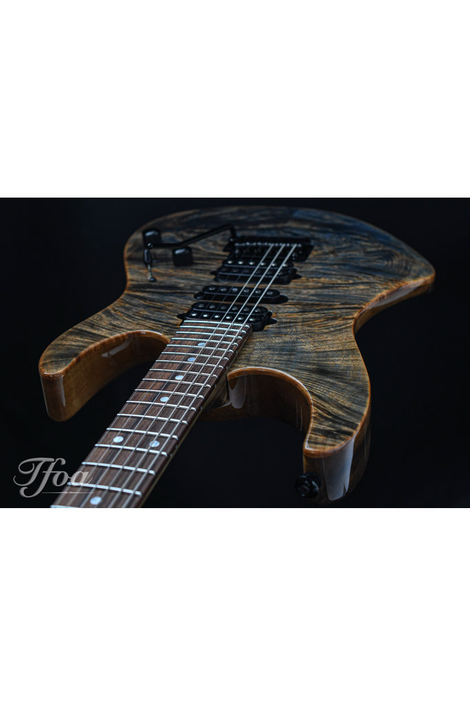 Suhr Modern Custom Waterfall Burl Black Limba