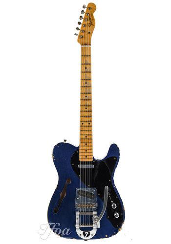 Fender Custom Fender Custom Shop Masterbuilt Telecaster Thinline Yuriy Shishkov Candy Blue Relic 2014