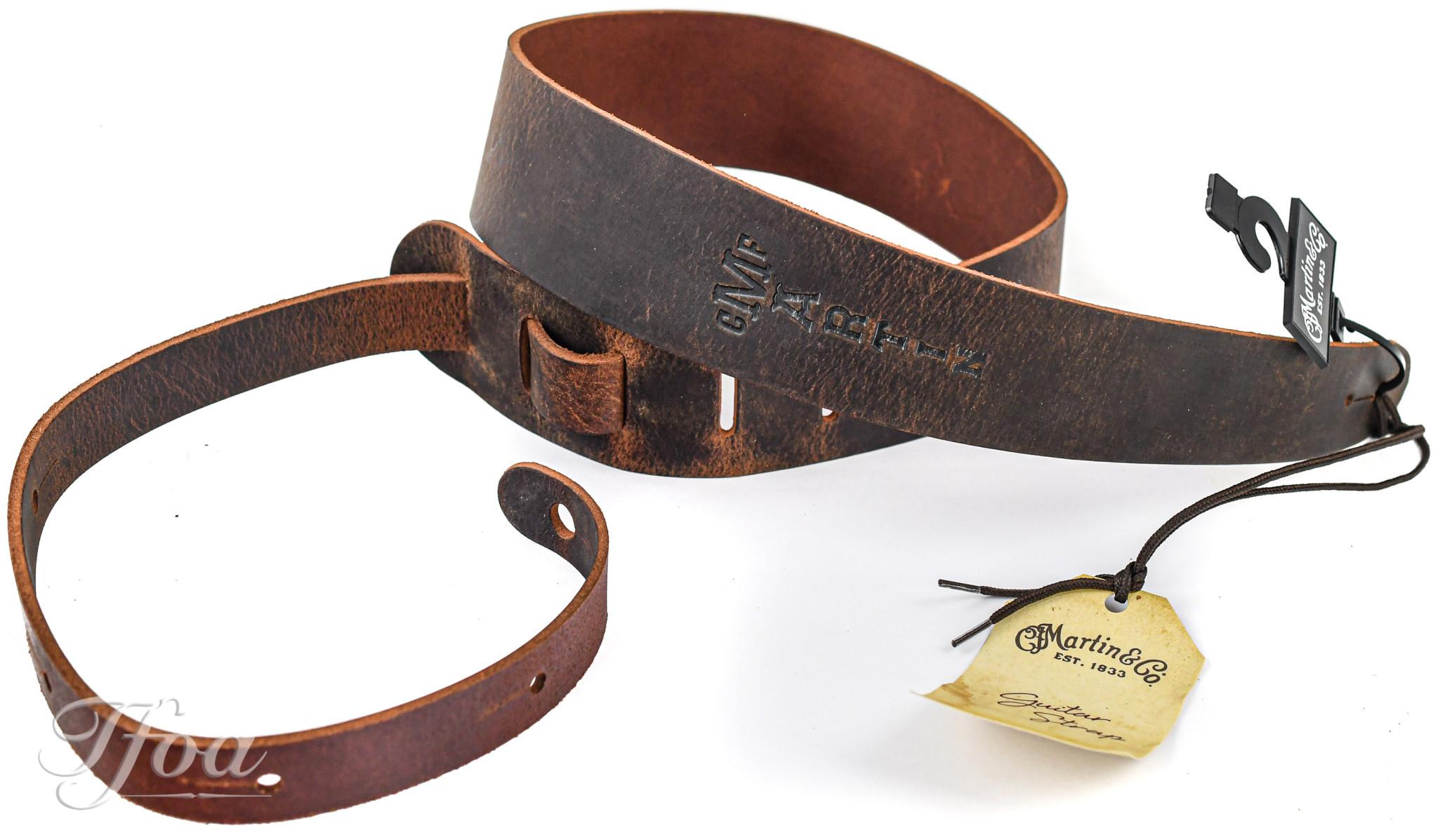 Martin 18A0065 Brown Belt Leather Vintage Guitar Strap