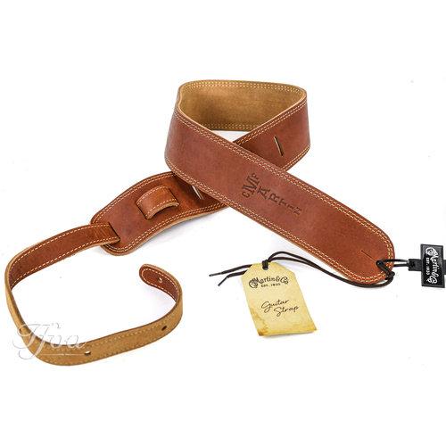Martin Martin Baseball Glove Leather Guitar Strap, Brown 18A0012