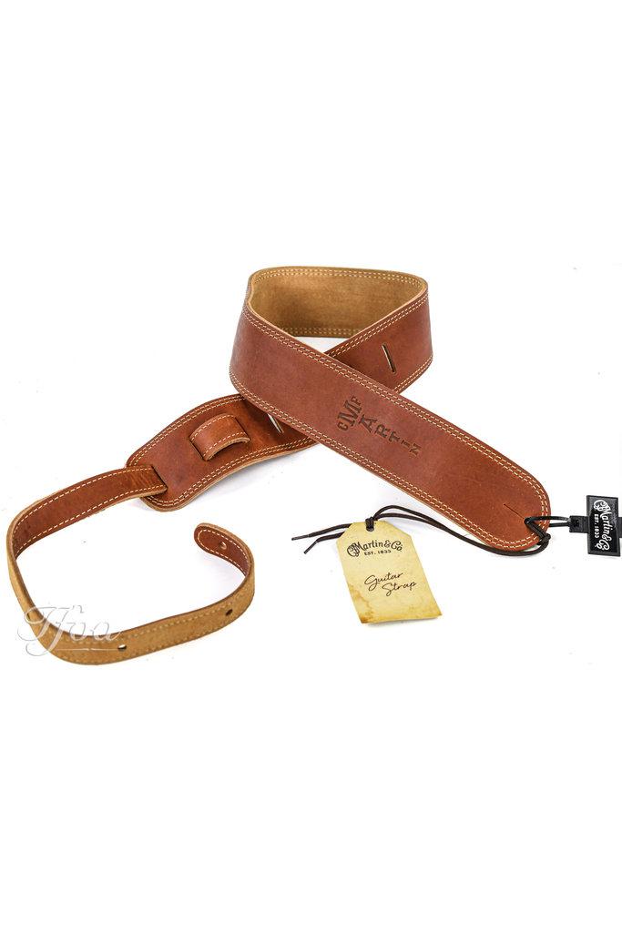 Martin 18A0012 Baseball Glove Leather Guitar Strap Brown